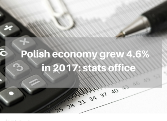 Polish economy grew 4.6% in 2017_ stats office