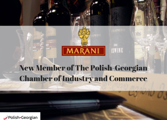 New Member of Polish-Georgian Chamber of Industry and Commerce.