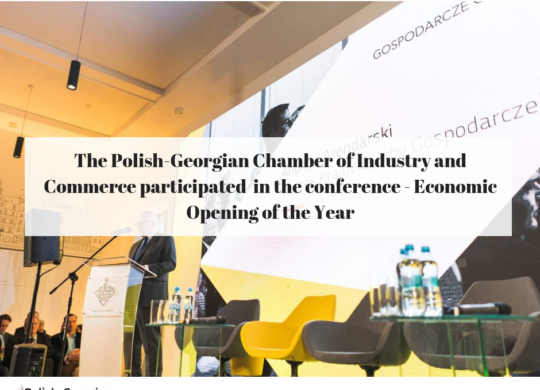The Polish-Georgian Chamber of Industry and Commerce participated in the conference - Economic Opening of the Year