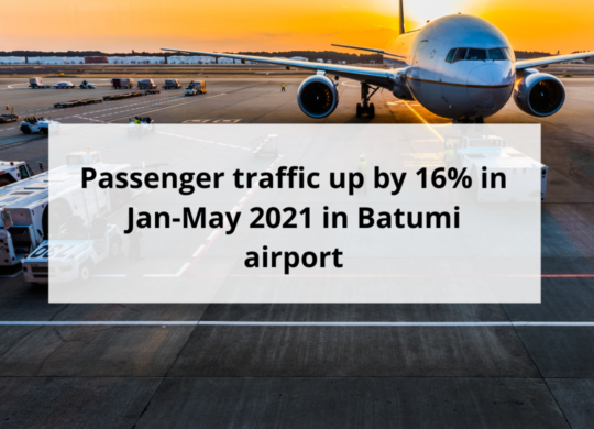 Passenger traffic up by 16% in Jan-May 2021 in Batumi airport
