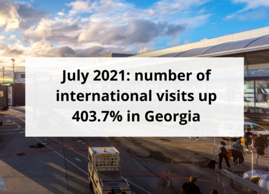 July 2021 number of international visits up 403.7% in Georgia